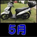 アドレス110 走行記録(5月)